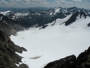 Humes Glacier down to Queets Basin