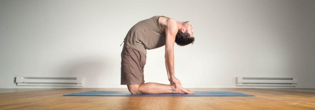 Doing yoga!